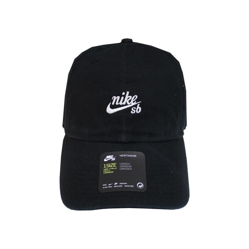 7bb95e1c7b Boné Nike SB Aba Curva - H86 Twill Preto