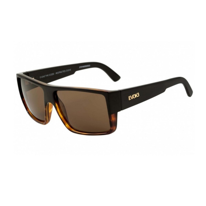 08f5082d7f7e9 Óculos Evoke - The Code Black Turtle Gold Brown Total
