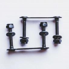 "Parafuso Grampo Hondar p/Long - Studded Screws & Nuts 1.25"" Preto"