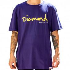 Camiseta Diamond - OG Script Purple