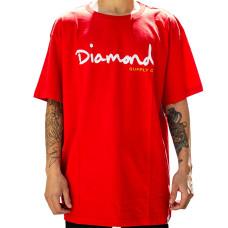Camiseta Diamond - OG Script Red